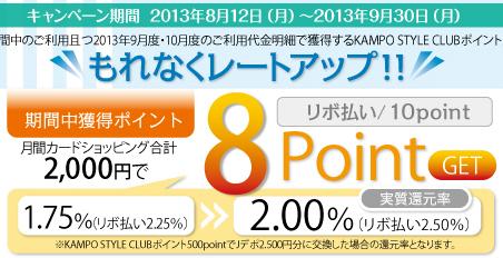 漢方スタイルクラブカード2%キャンペーン