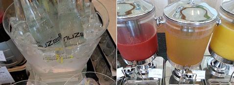 ザ・プリンス箱根のル・トリアノンの水・ジュース