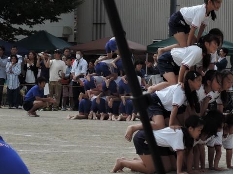 運動会 府中小⑤ 組体操