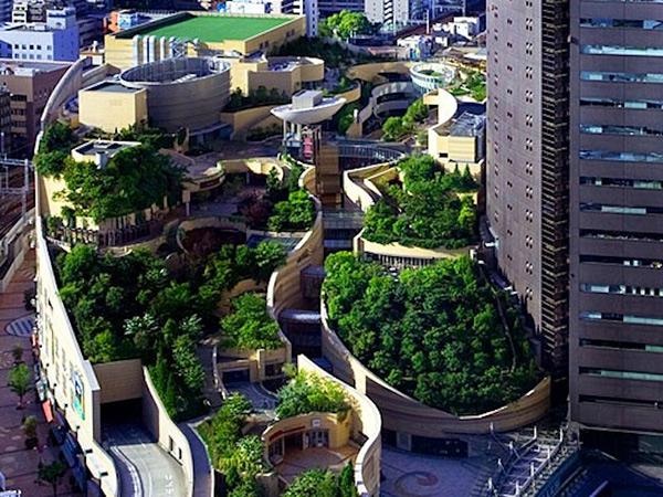 とある街と緑の(大阪)image