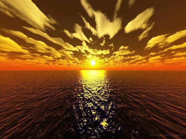 とある黄金と茜色の空image
