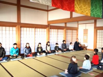 子供坐禅会始まるH26冬2