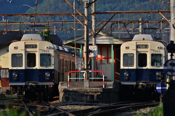 2013年5月25日 上田電鉄別所線 下之郷 7200系7255F・7253F