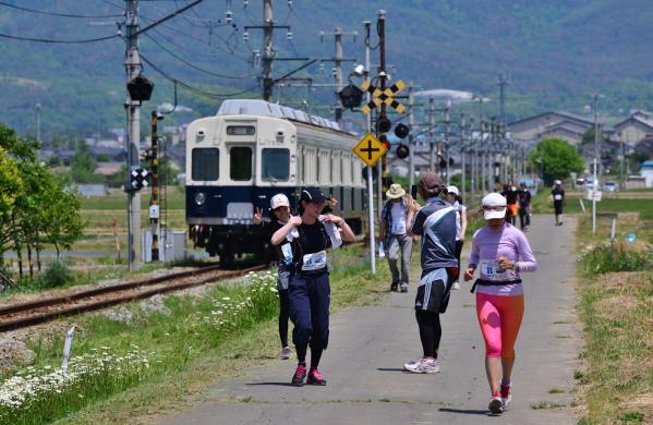 2013年5月25日 上田電鉄別所線 八木沢~舞田 7200系7255F別所線と走ろう、歩こう!! ラン&ウォーク