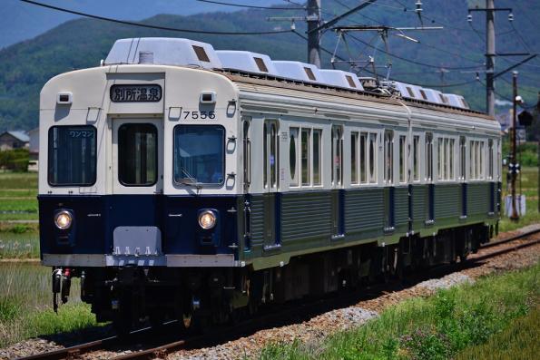 2013年6月3日 上田電鉄別所線 舞田~八木沢 7200系7255F