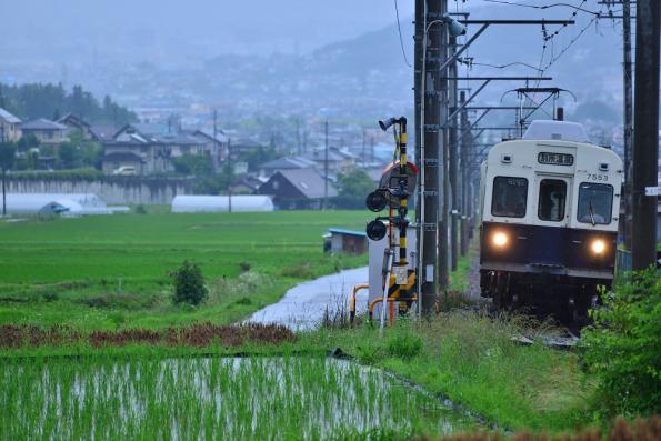 2013年6月26日 上田電鉄別所線 八木沢~別所温泉 7200系7253F