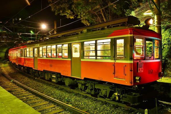 2013年7月5日 箱根登山鉄道線 塔ノ沢 モハ2形110+モハ1形107-103