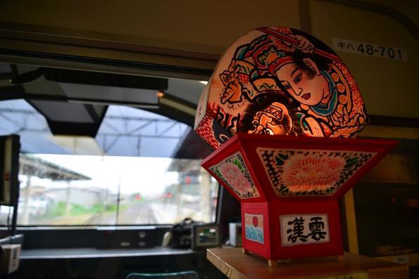 2013年7月12日 JR東日本五能線 東能代 快速リゾートしらかみ1号車内