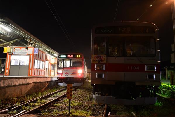 2013年7月27日 上田電鉄別所線 下之郷 1000系1002F/1004F