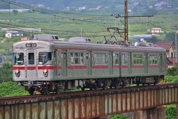 2013年7月28日 長野電鉄長野線 夜間瀬~信濃竹原 3500系N3編成