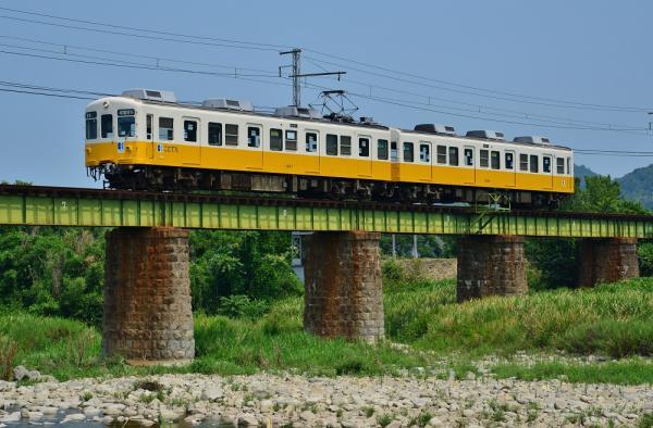 2013年8月10日 高松琴平電鉄琴平線 羽間~榎井 1200形1207-1208