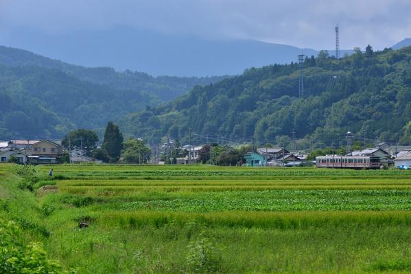 2013年8月25日 上田電鉄別所線 八木沢~舞田 1000系1004F