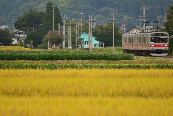2013年9月22日 上田電鉄別所線 八木沢~舞田 1000系1004F