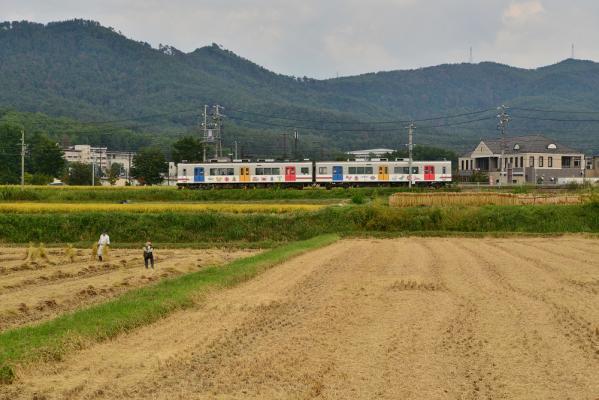 2013年9月22日 上田電鉄別所線 下之郷~大学前 1000系1002F