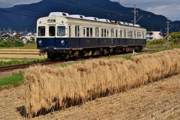 2013年10月11日 上田電鉄別所線 大学前~下之郷 7200系7253F