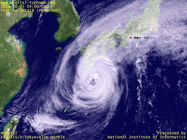 台風18号 01