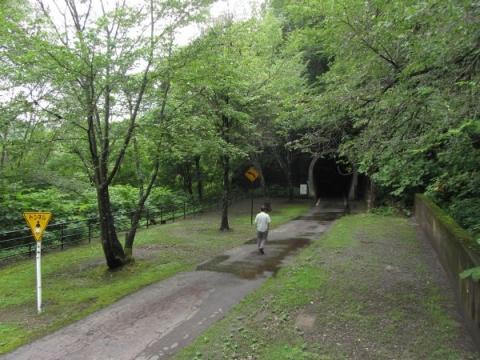 神居古潭の旧函館本線トンネル