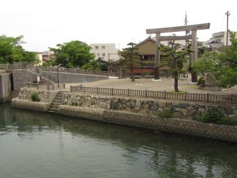 七里の渡しの渡船場跡