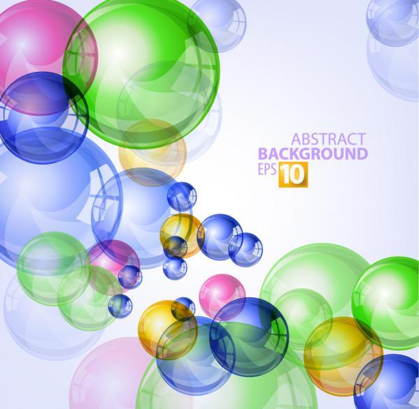 泡の色が重なる背景 bright colorful bubbles background