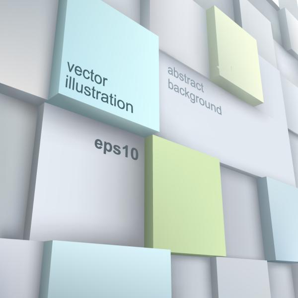 立体的なボックスを重ねた背景 3d box sculpture technology background