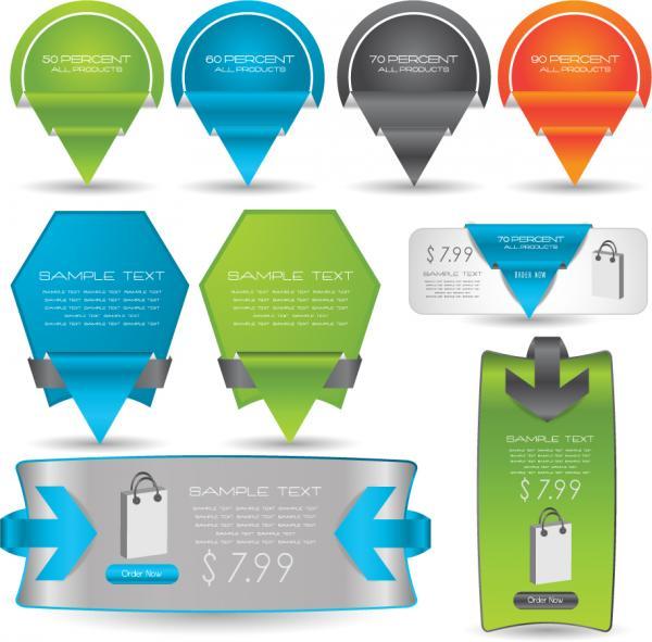 値札、テキストボックスのウェブデザイン roll angle stickers, price tag, text boxes