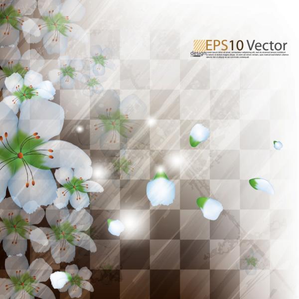光を浴びる美しい花弁の背景 flower petals halo ray background