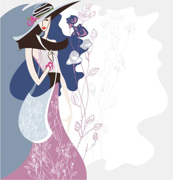 手書きの美しいファッション ポスター beautiful hand-painted trend fashion posters