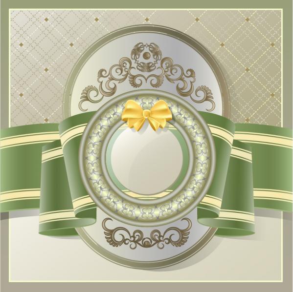 ヨーロッパ調のリボンを帯にした表紙見本 European styles lace ribbons cover