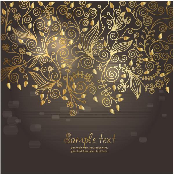 ヨーロッパ調の金色パターンの背景 european golden pattern background