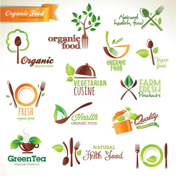 有機食品のアイコン organic food beautiful icon design