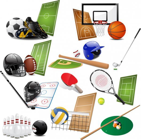 球技スポーツのイラスト素材 sports equipment vector