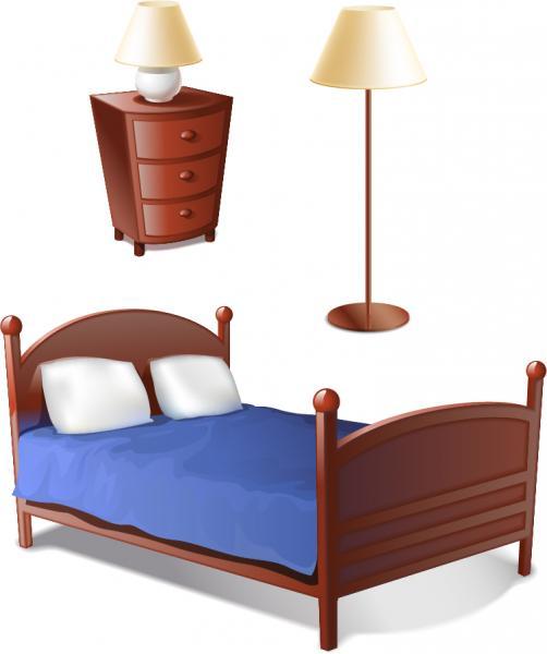 ベッドルームの家具 bedroom furniture vector