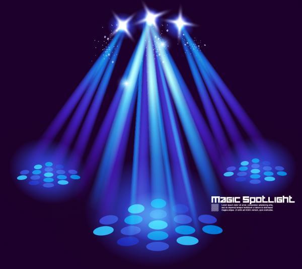 ステージを照らすスポットライト Stage lighting special effects spotlights