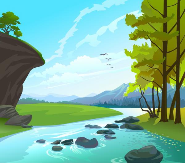 美しい川の風景 Beautiful water stone natural landscape