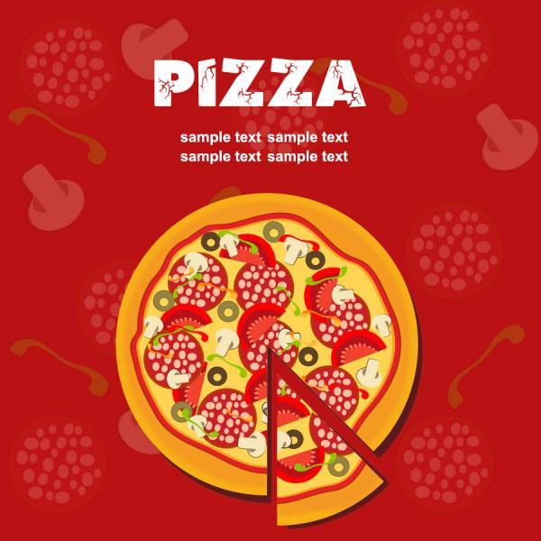 ピザのポップ テンプレート Pizza pop poster template