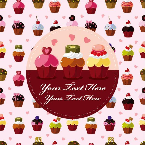 ショートケーキの背景 shortcakes background vector