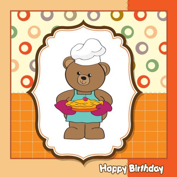 クマのピザ屋さん Cartoon Winnie dolls pizza cover