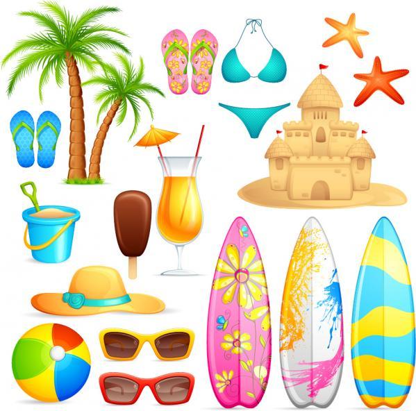 海辺のアイテム lovely seaside stickers