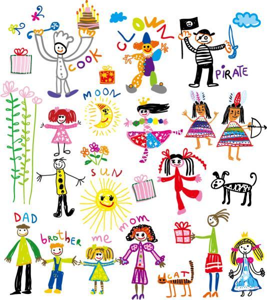 子供の落書き childrens painting graffiti