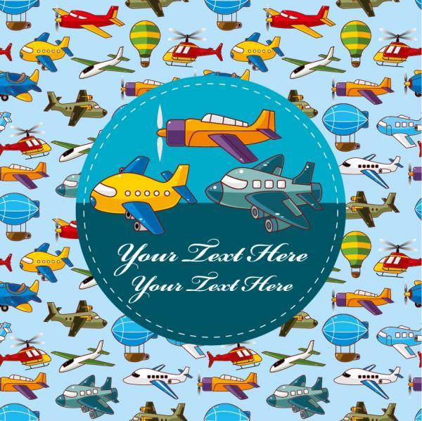 飛行機を集めた表紙見本 cartoon airplane collection