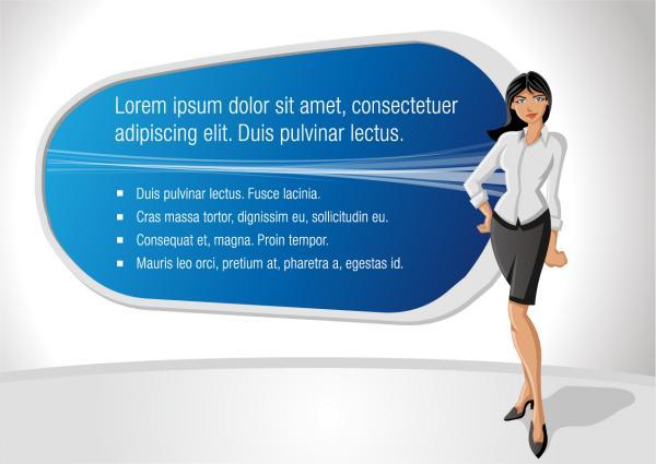 ビジネスウーマンとプレゼンボード business commercial background