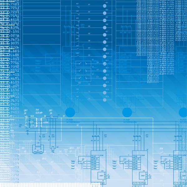 テクノロジーを表現した青い背景 Blue Tech Background