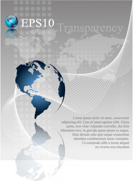 地球を背景にしたビジネステンプレート earth globe business background