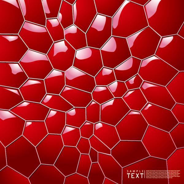 光沢ある蜂の巣状の背景 3D Honeycomb Background
