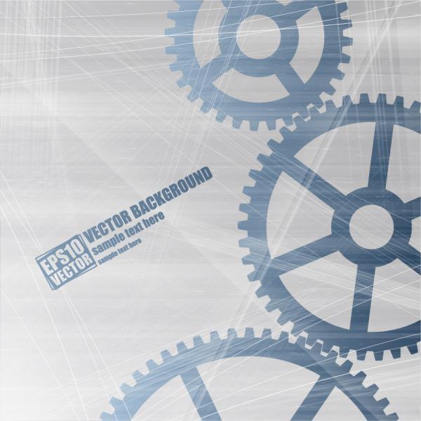 掠れた歯車の背景 Blue vector gear elements