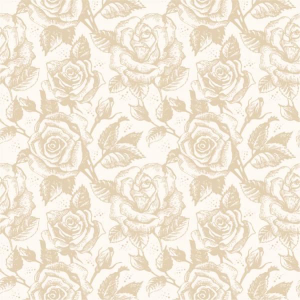 淡い色の薔薇の背景 Seamless light brown roses pattern
