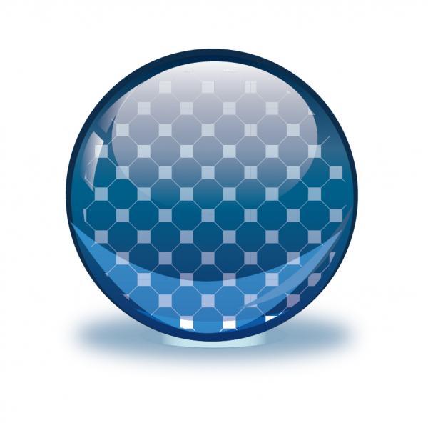 透明なボタン Glossy Sphere