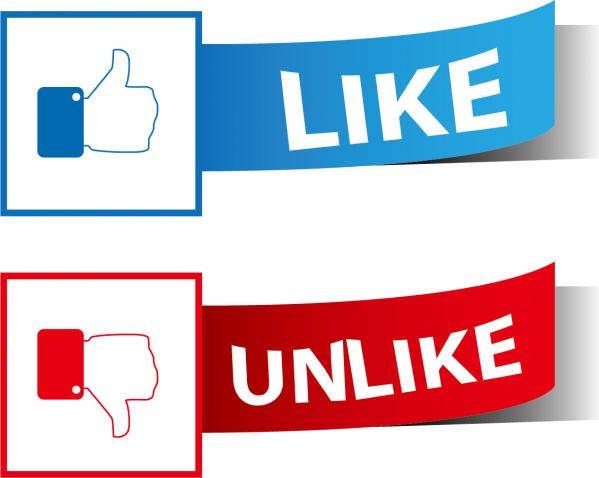 いいねボタン Like Dislike Vector