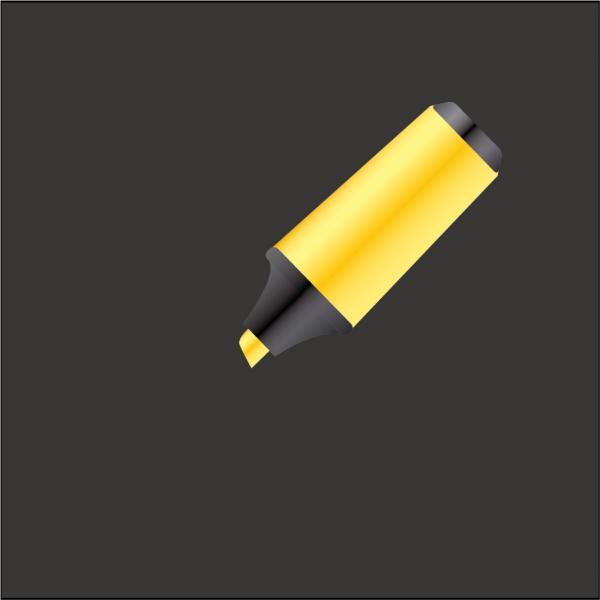 黄色の蛍光ペン Highlighter Vector