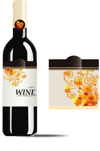 ワイン ボトル デザイン見本 Vector Wine Bottle
